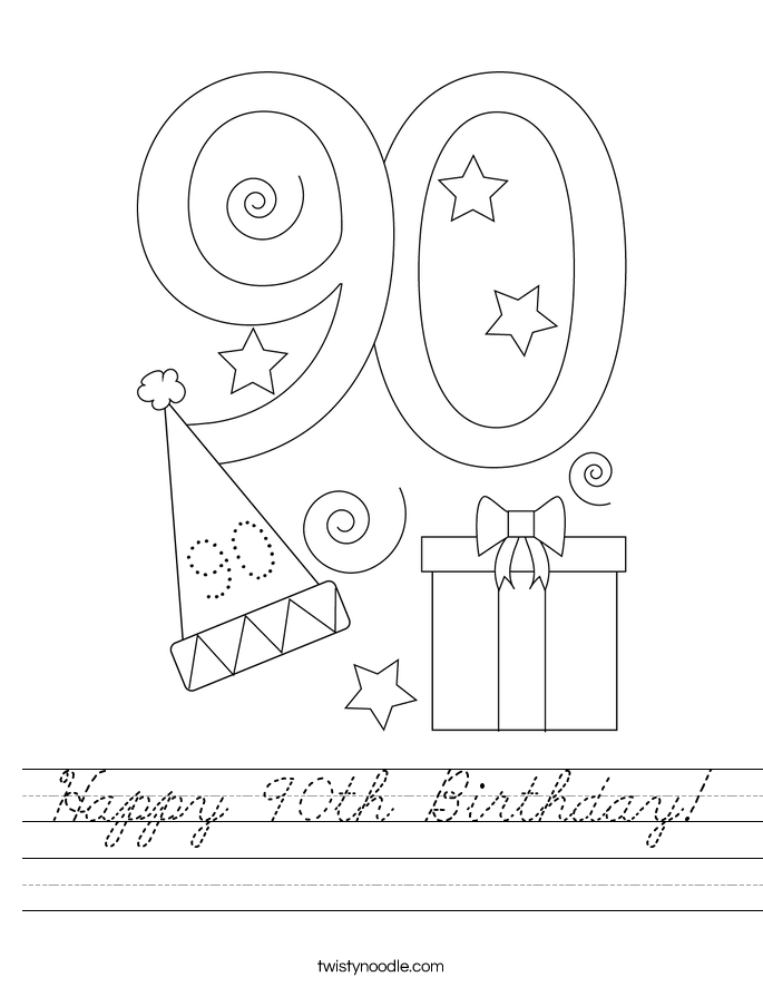 Happy 90th Birthday! Worksheet