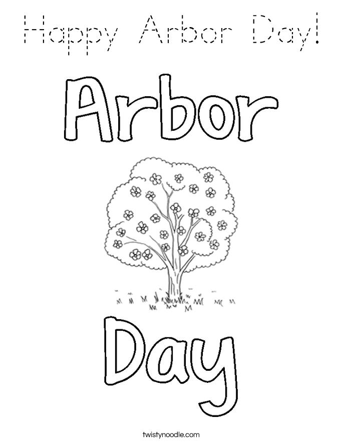 Happy Arbor Day! Coloring Page