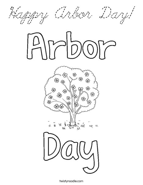 Happy Arbor Day! Coloring Page