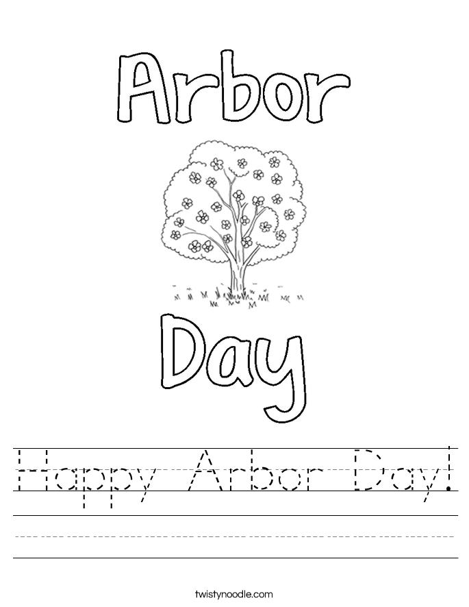 Happy Arbor Day! Worksheet