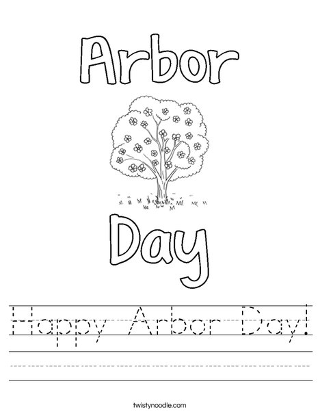 Happy Arbor Day! Worksheet