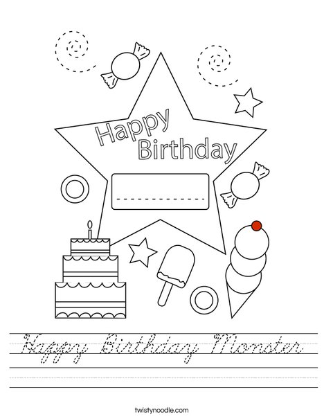 Today is my birthday! Worksheet