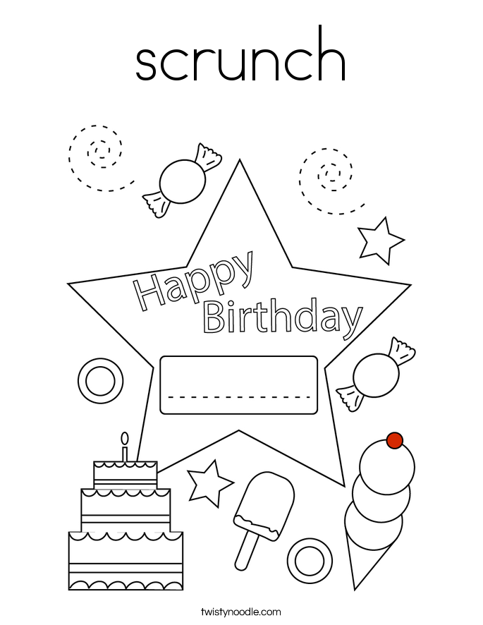 scrunch Coloring Page