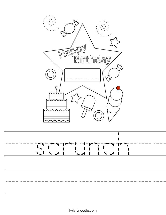 scrunch Worksheet