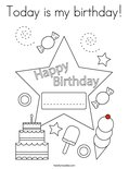 Today is my birthday!Coloring Page