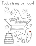 Today is my birthday Coloring Page