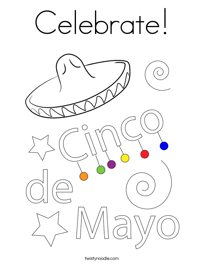 Celebrate! Coloring Page