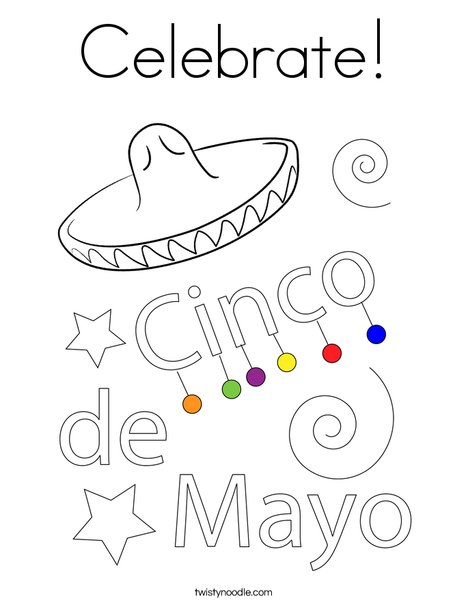 Happy Cinco De Mayo Coloring Page