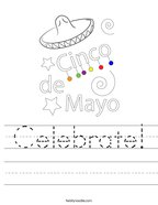 Celebrate Handwriting Sheet