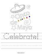 Celebrate Handwriting Sheet