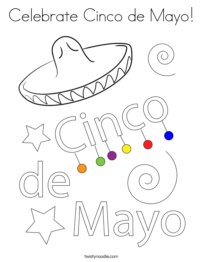 Celebrate Cinco de Mayo! Coloring Page
