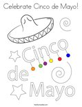 Celebrate Cinco de Mayo!Coloring Page