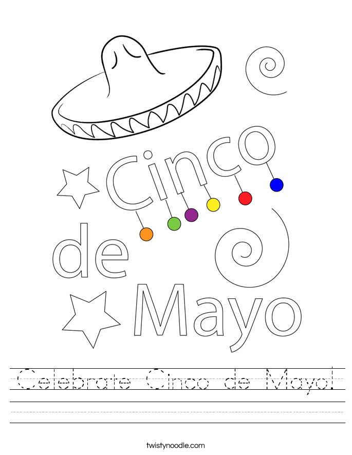 Celebrate Cinco de Mayo! Worksheet