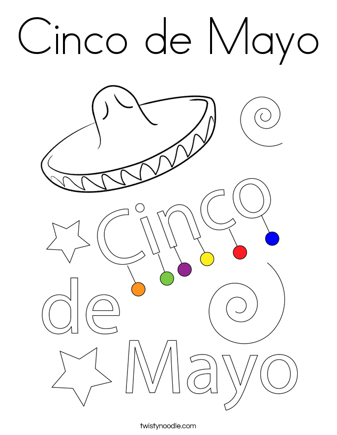 Cinco De Mayo Coloring Pages Cinco de mayo coloring page.