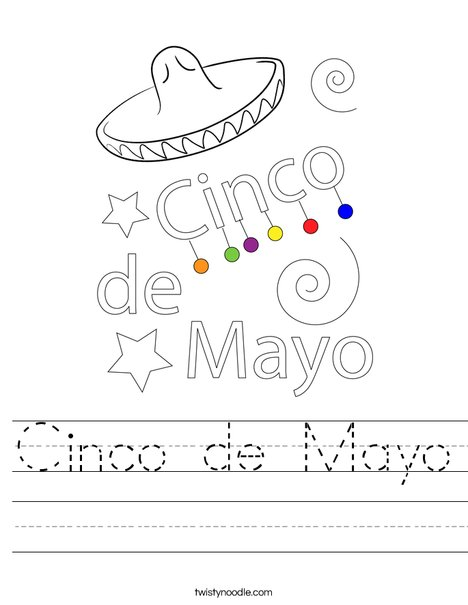 Happy Cinco De Mayo Worksheet