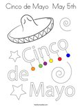 Cinco de Mayo  May 5thColoring Page