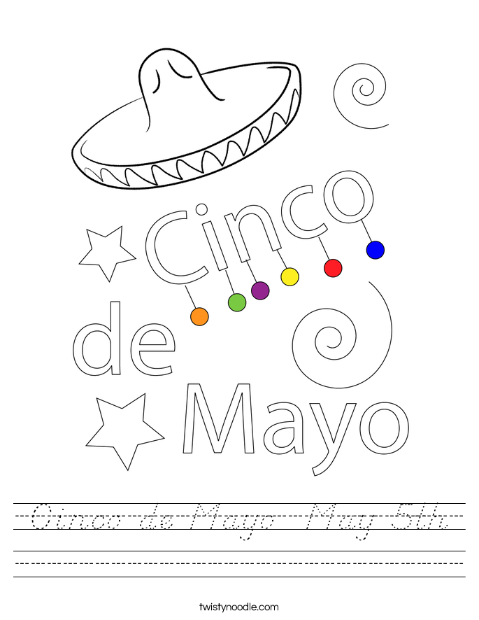 Cinco de Mayo  May 5th Worksheet