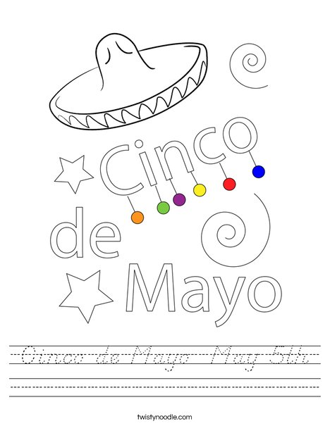 Happy Cinco De Mayo Worksheet