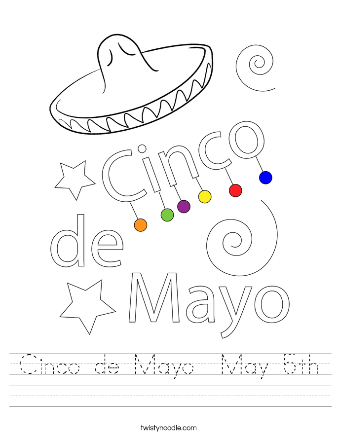 Cinco de Mayo  May 5th Worksheet