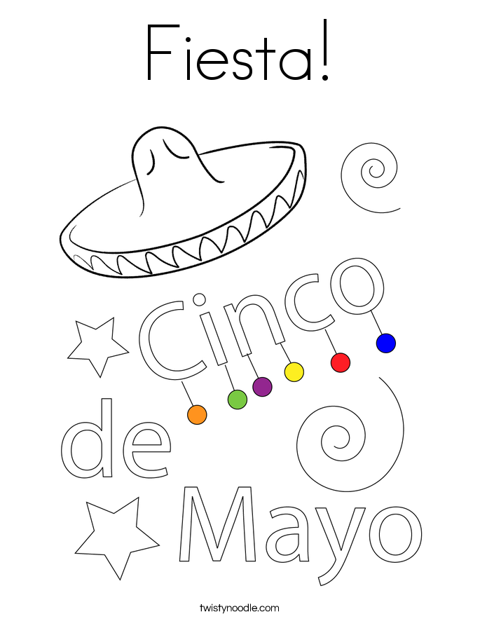 fiesta coloring pages coloring pages