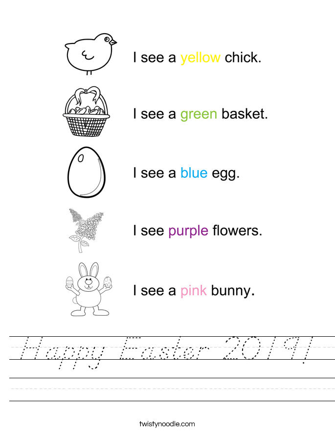Happy Easter 2019! Worksheet