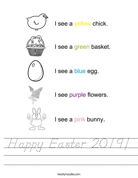 Happy Easter 2016 Worksheet