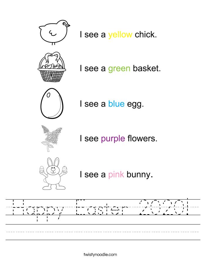 Happy Easter 2020! Worksheet