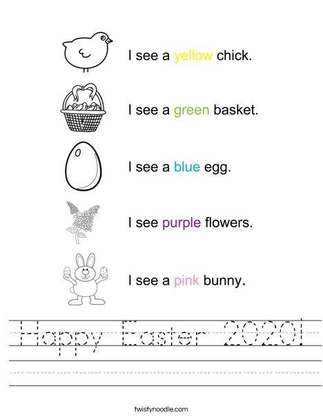 Happy Easter 2016 Worksheet