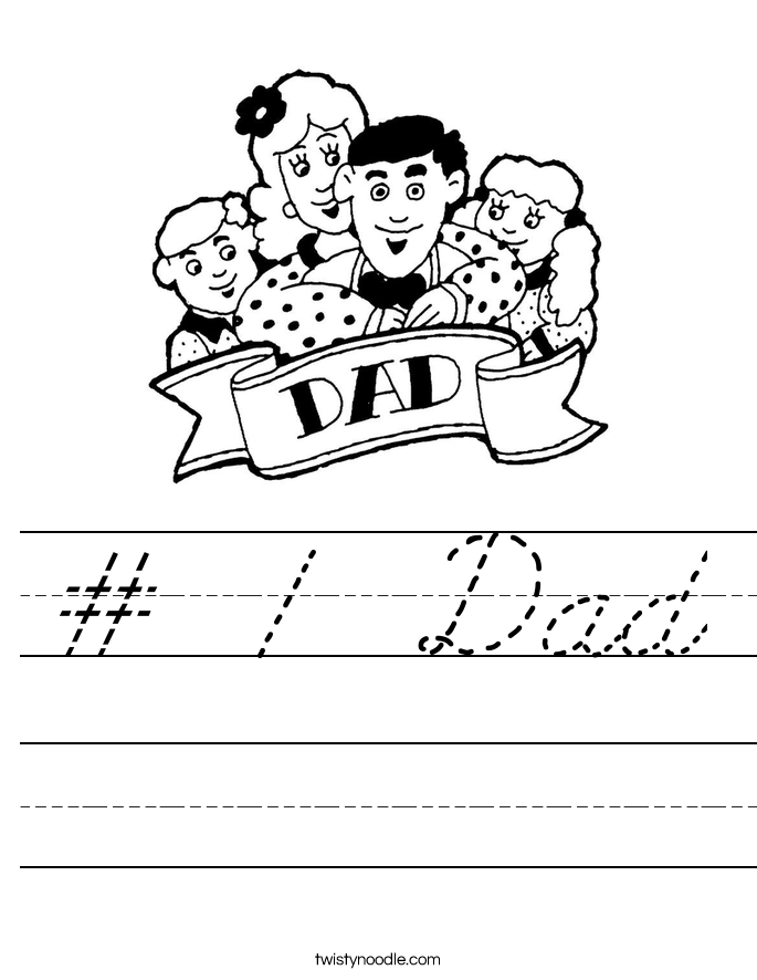 Dads worksheets