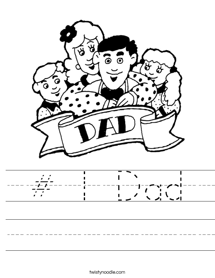 # 1 Dad Worksheet