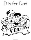 D is for DadColoring Page