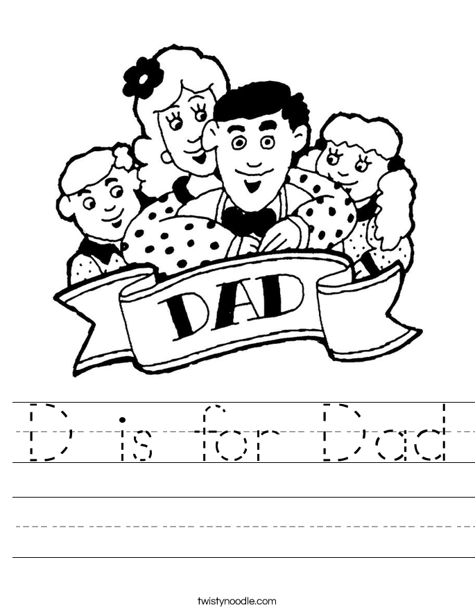 D is for Dad Worksheet