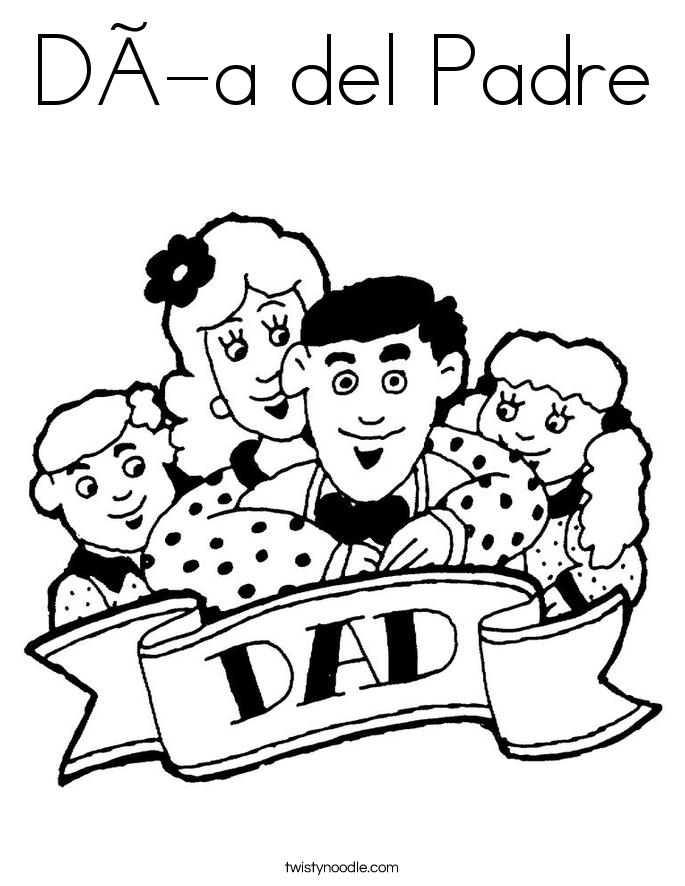 Día del Padre Coloring Page