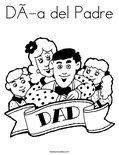 Día del PadreColoring Page