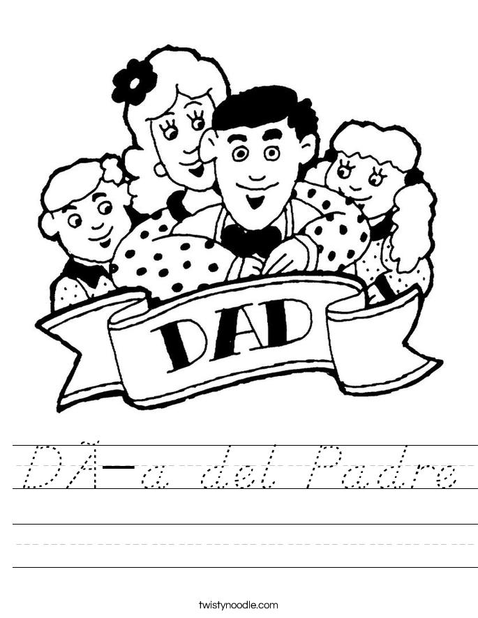 Día del Padre Worksheet