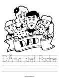 Día del Padre Worksheet