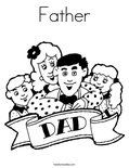 FatherColoring Page