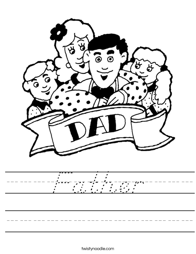 Father Worksheet