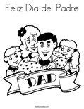 Feliz Dia del PadreColoring Page