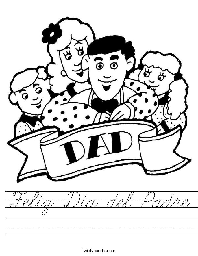 Feliz Dia del Padre Worksheet