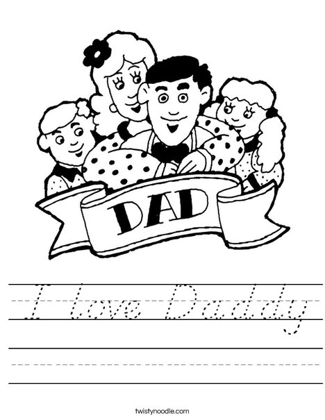 Dad and Family Worksheet