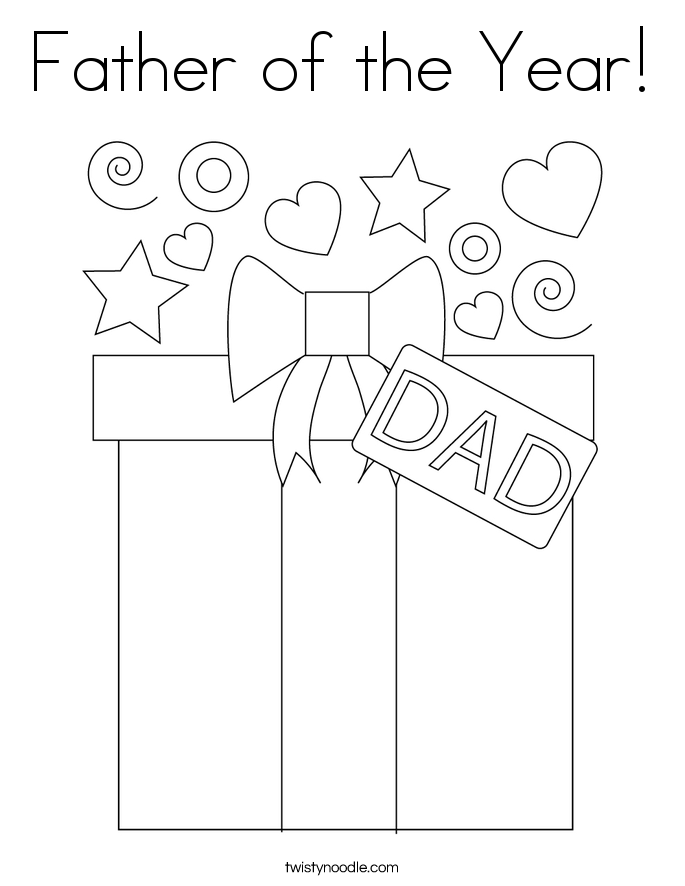 Father of the Year! Coloring Page