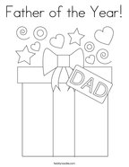 Father of the Year Coloring Page