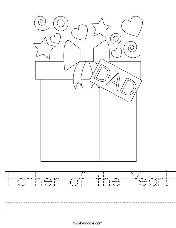 Father of the Year! Worksheet