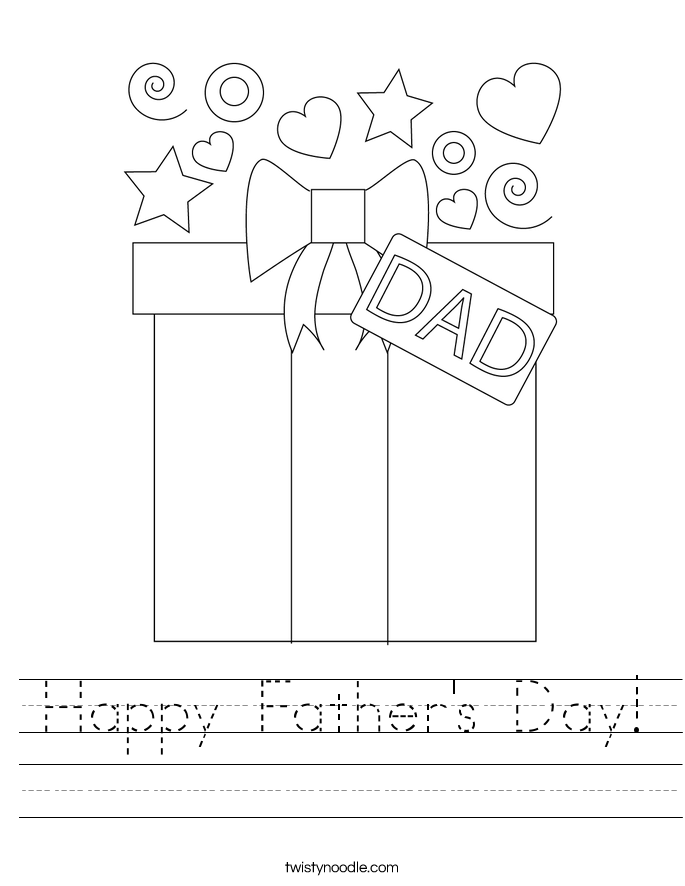 Happy Father S Day Worksheet : Happy father s day worksheet twisty noodle