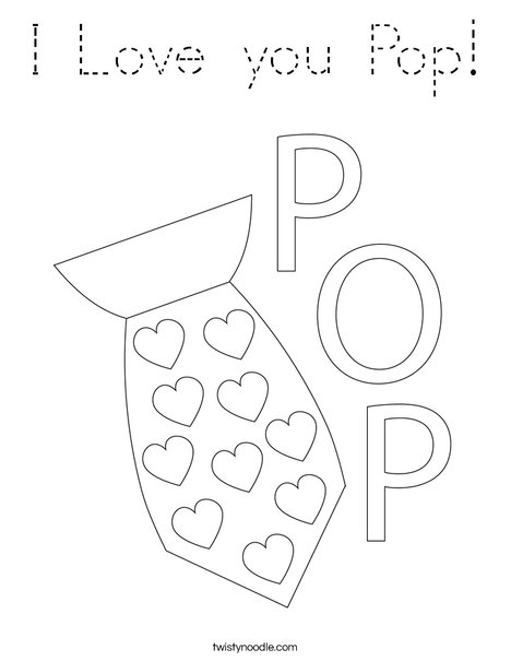 Father's Day Tie Coloring Page