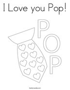 I Love you Pop Coloring Page