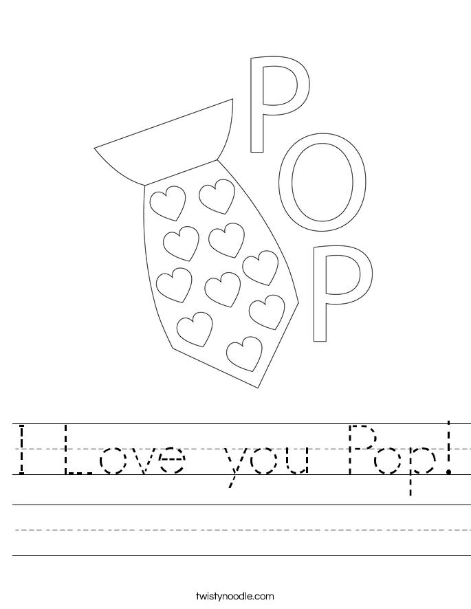 I Love you Pop! Worksheet