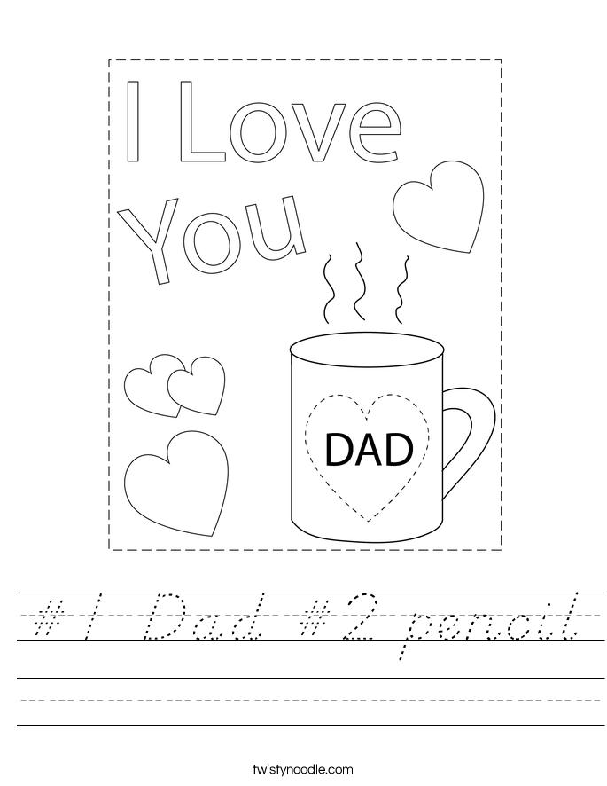 #1 Dad #2 pencil Worksheet