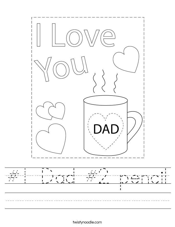 #1 Dad #2 pencil Worksheet
